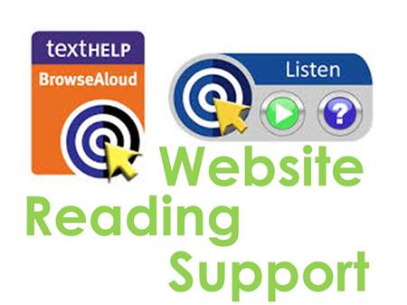 Website Reading Support button